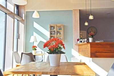 Dekoration Café-Bereich der feG Coburg