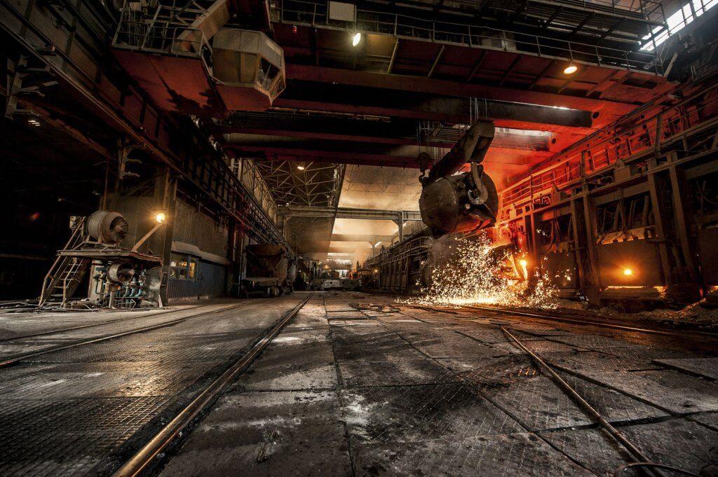 Stahlverarbeitung am Hochofen