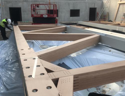 Westhouse: Der Holzbau hat begonnen