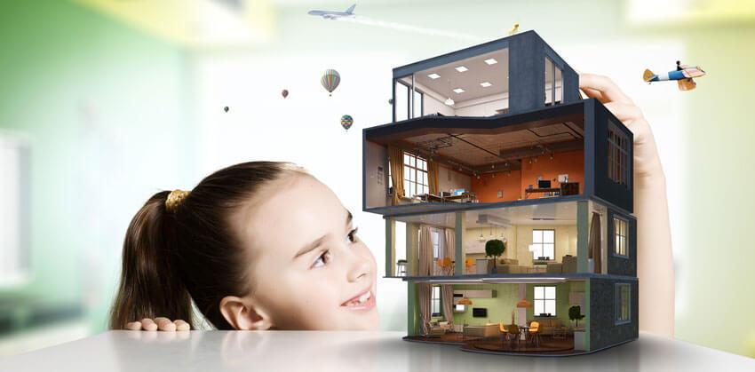 Multifunktionales Gebäude mit unterscheidlichen Nutzungen